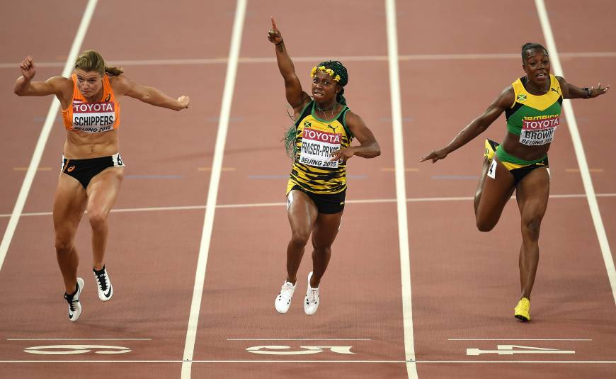 Shelly-Ann Fraser-Pryce wins gold at IAAF WOrld Championships