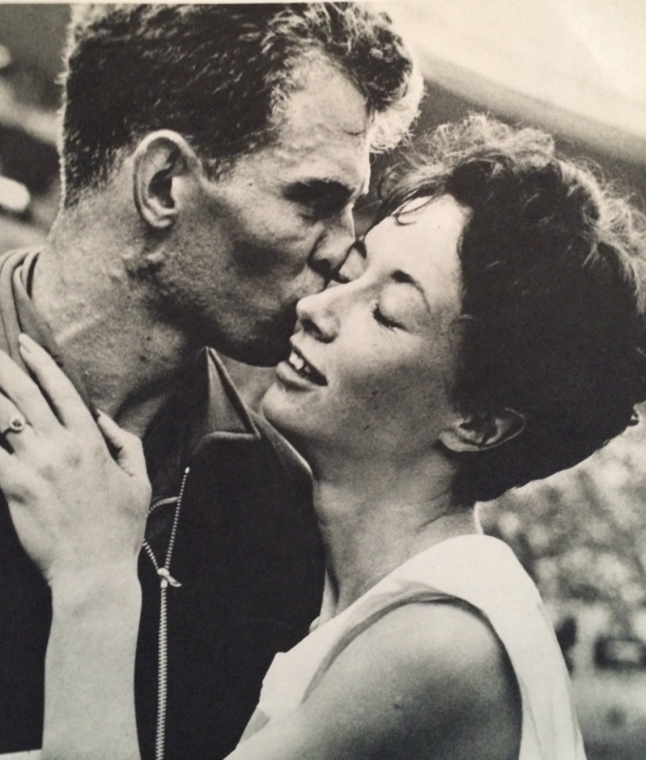 Robbie Brightwell and Ann Packer celebrate her 800 meter victory_from the book