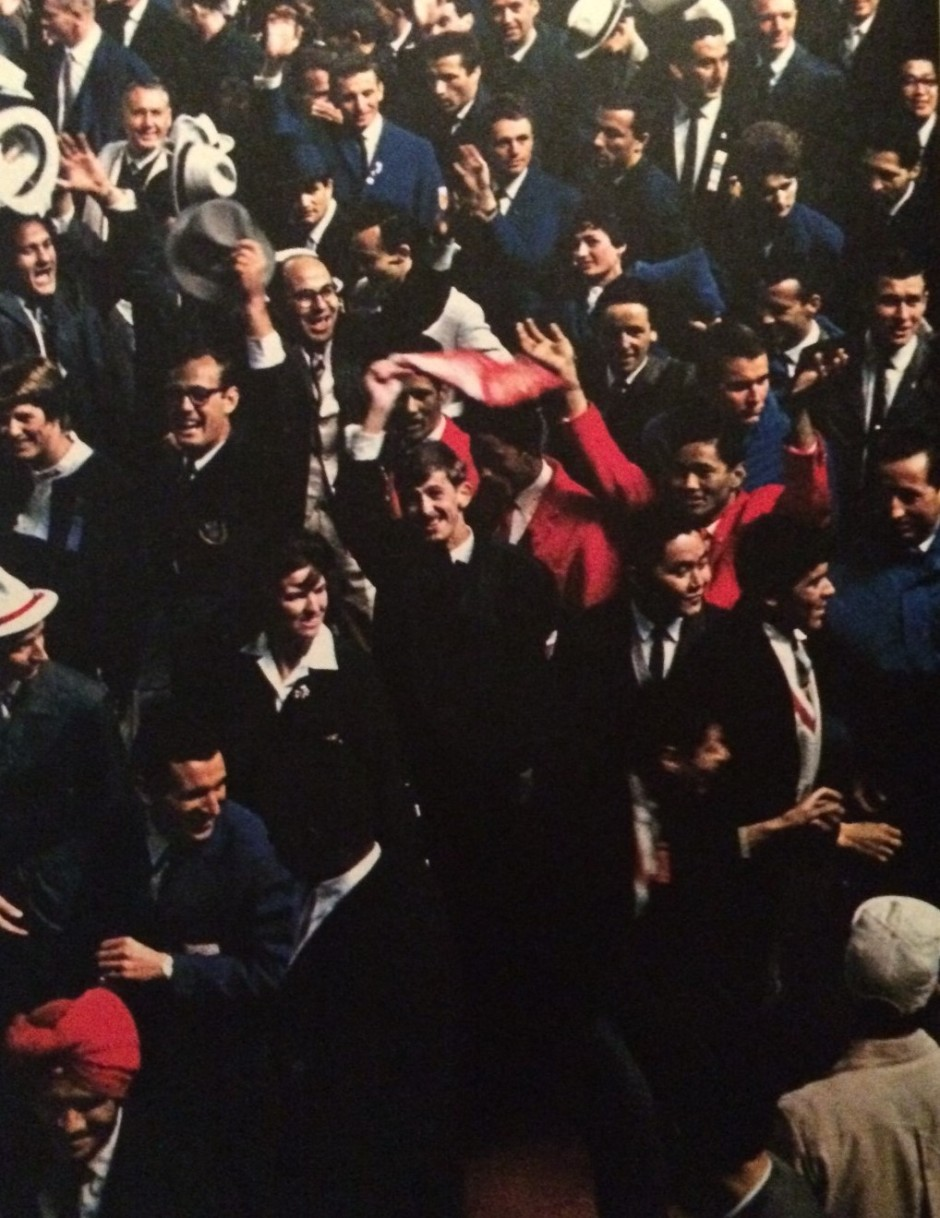 The Closing Ceremony of the 1964 Tokyo Olympics, October 24, from the book,