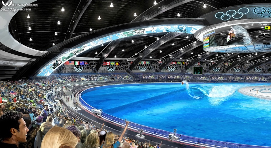 What surfing in the Olympics could look like, for better or worse. Photo: WebberWavePools.com