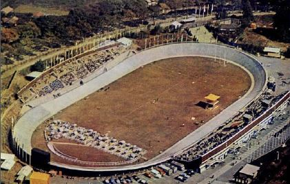 The Hachioji Velodrome in 1964, from the book