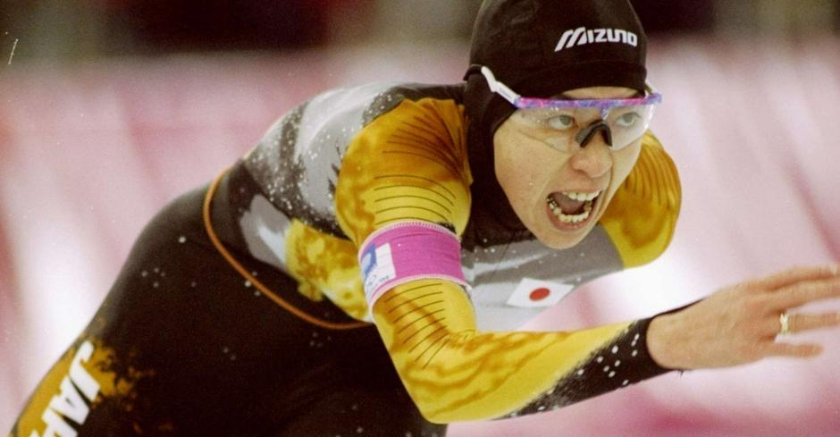Seiko Hashimoto, one of only two athletes to have competed in two different Olympic Games in the same year (Albertville and Barcelona in 1992)