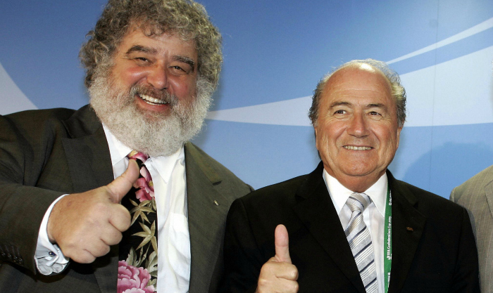 Chuck Blazer with FIFA head Sepp Blatter