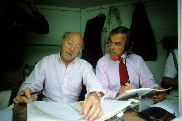 Bud Collins and Dick Enberg