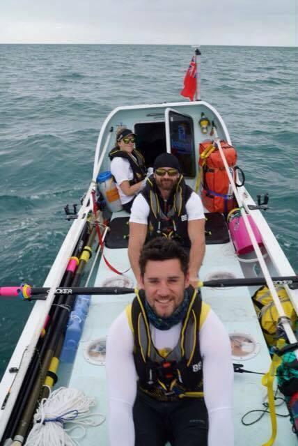Row2Rio in boat