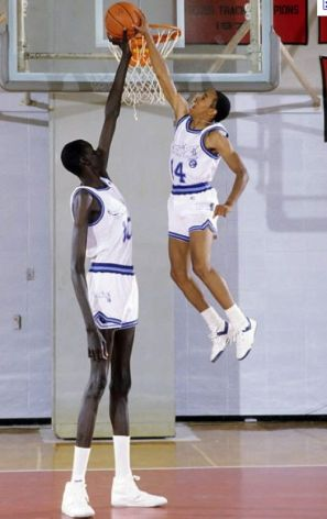 tall and short in basketball