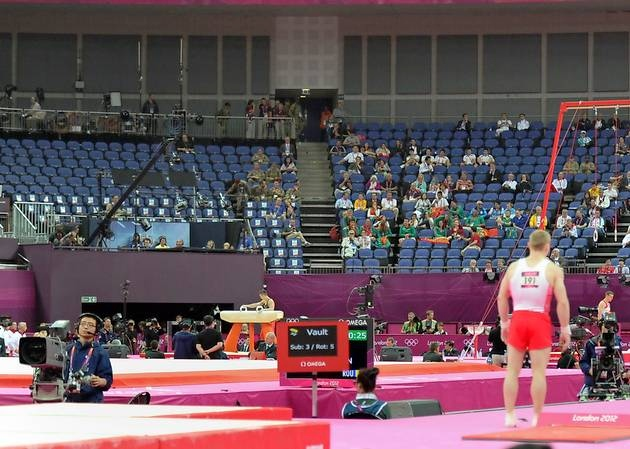 Empty Seats at Gymnastics Competition at London Games