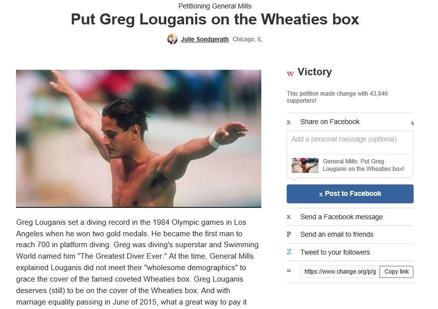 Put Greg Louganis on a Wheaties Box