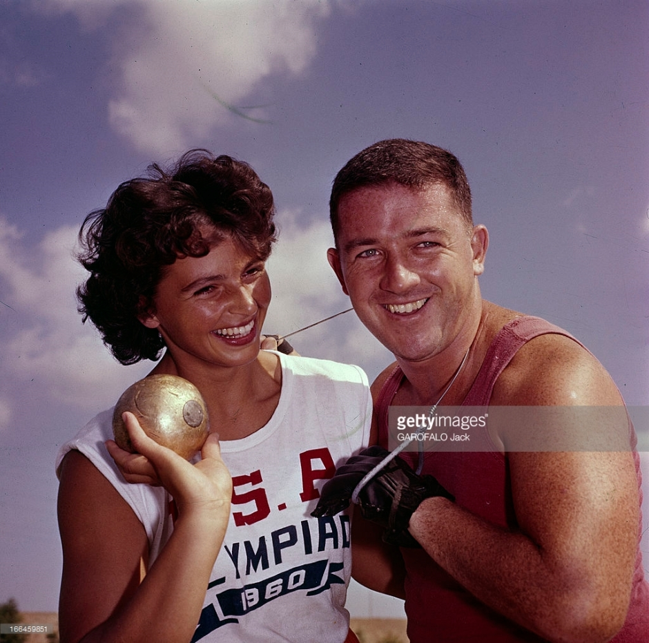 Olga and Harold Connolly at the 1960 Rome Olympics