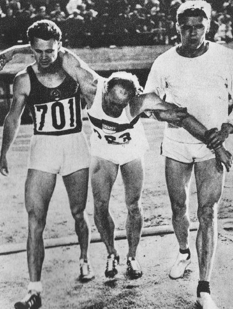 Willi Holdorf after 1500 meter race