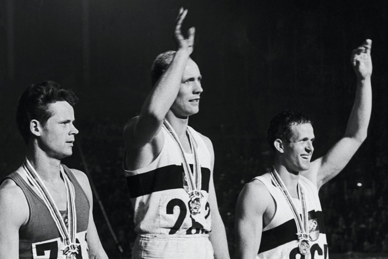 Willi Holdorf on medal stand