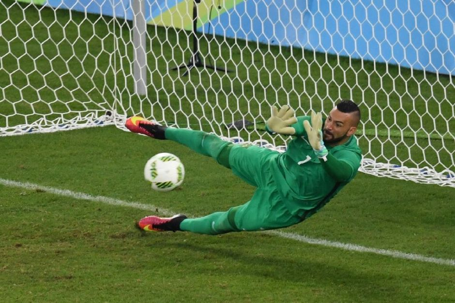 Weverton makes the save