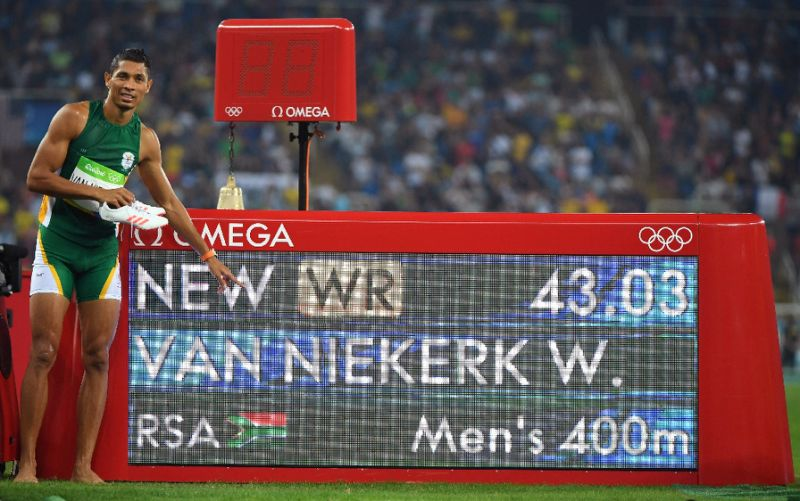 van-niekerk-world-record
