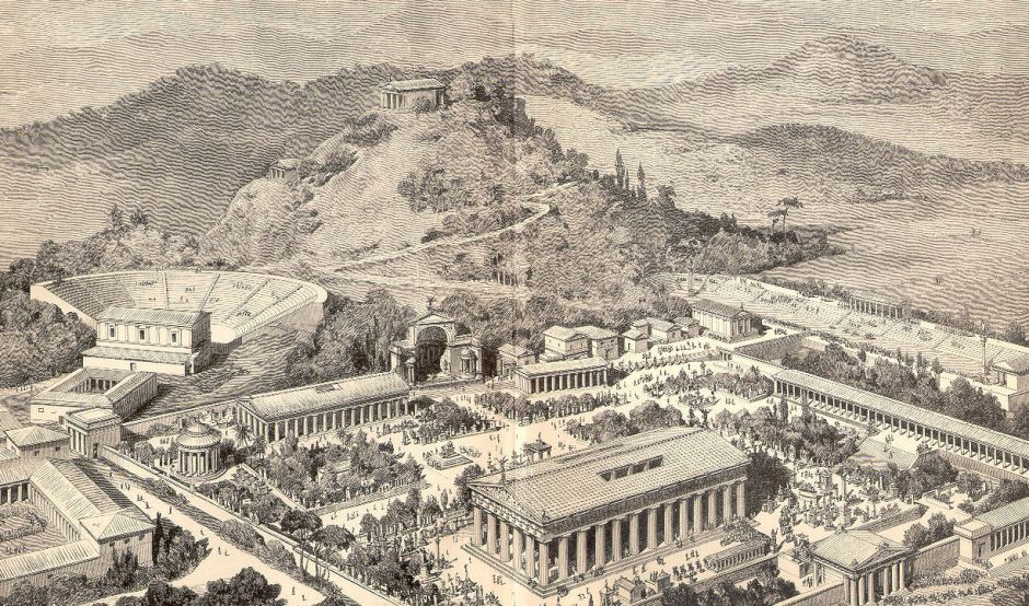 Olympia ancient greece_artist's rendition