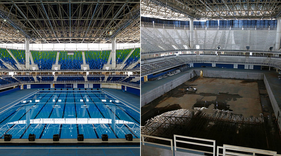 Rio Swimming Venue Before and After