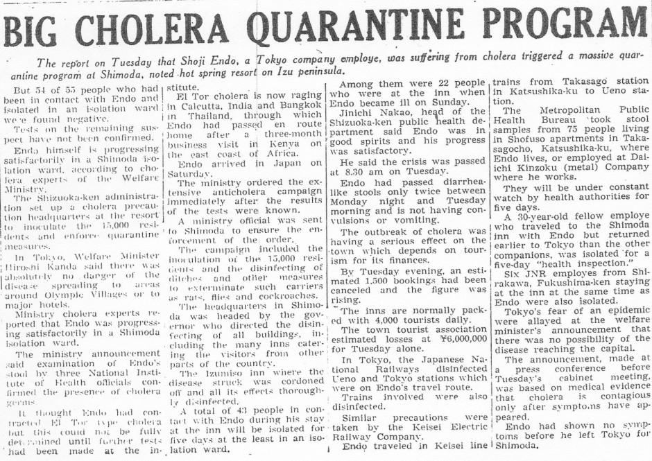 Cholera Quarantine_Yomiuri_14oct1964