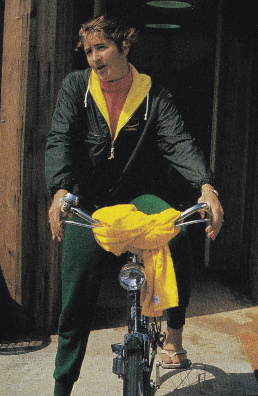 Dawn Fraser on a bicycle_The Olympic CEntury XVIII Olympiad