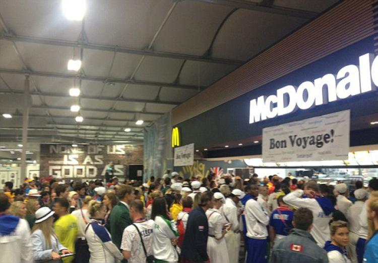 MacDonalds in Olympic Village of 2012 London Games