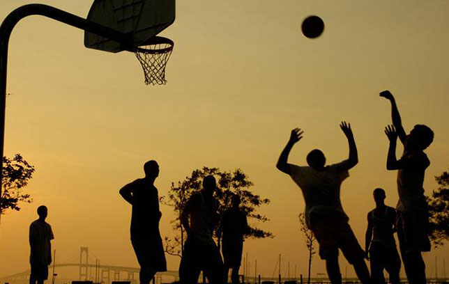 pick-up basketball