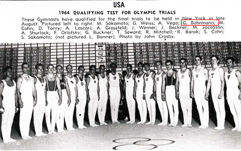 USA Mens Gymnastics Team_1964
