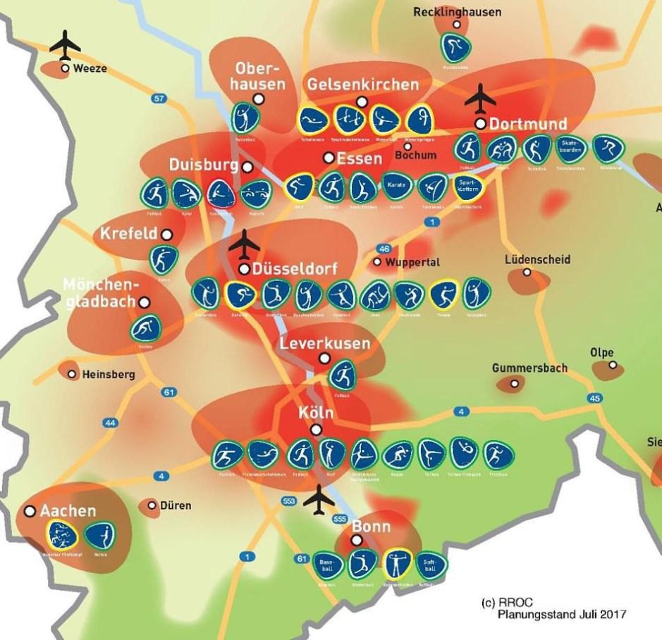 Rhein Ruhr 2032 map