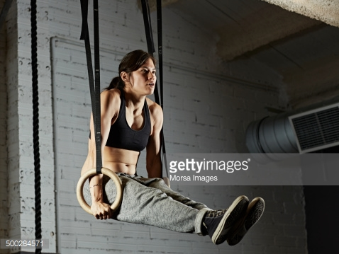 Woman on Rings