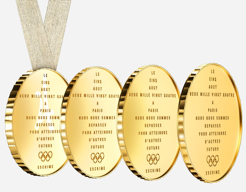 Starck four piece medal Paris 2024 2