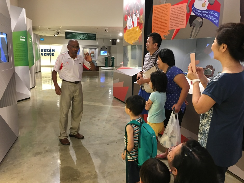 A Teaching Moment at the Singapore Sports Museum