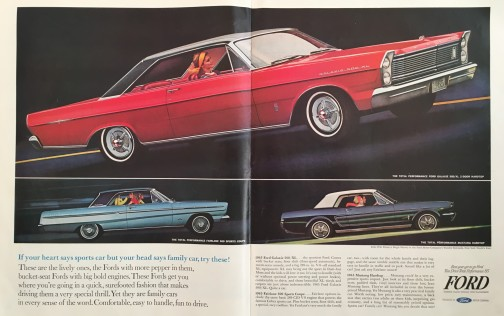 Ford Galaxie 500, Fairlane 500 Sports Coupe and Mustang Hardtop