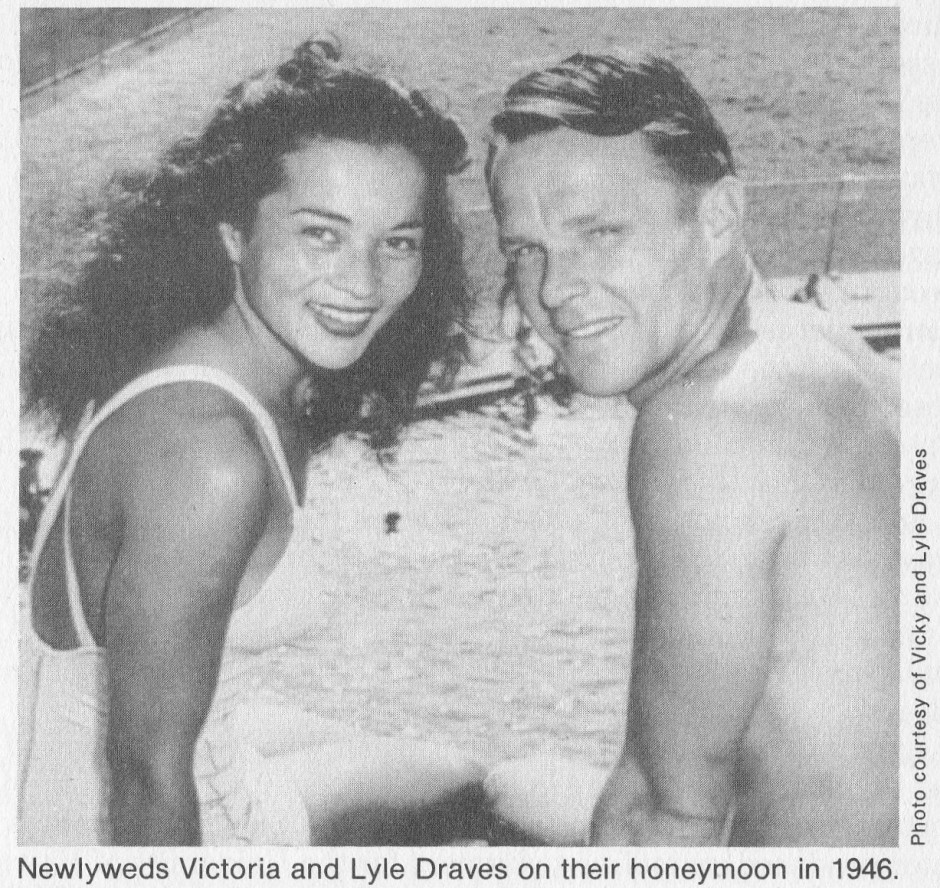 Newlyweds Victoria and Lyle Draves_1946