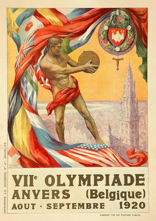 1920 antwerp olympics poster