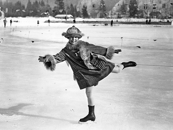 Sonja Henie_1924 Chamnoix Winter Olympics