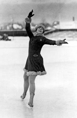 Sonja Henie_1928 St Moritz Winter Olympics