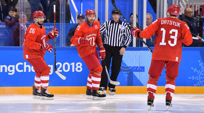 Olympics: Ice Hockey-Men Team Group B - RUS-USA
