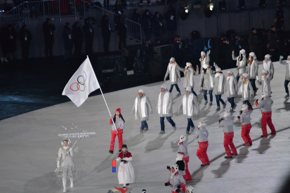 Olympic Athletes from Russia enter the Stadium