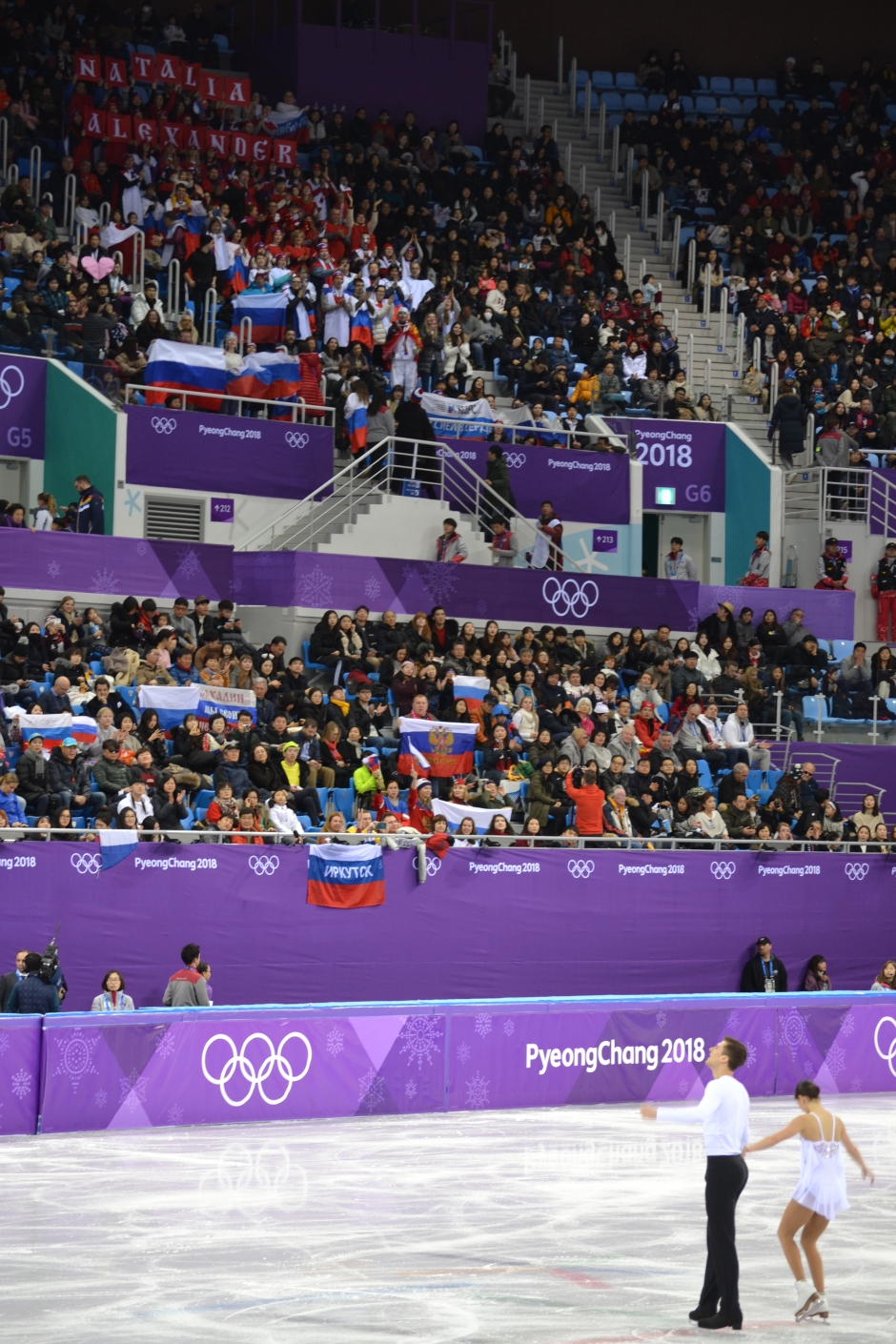 Russia Fans at Pairs Figure Skating