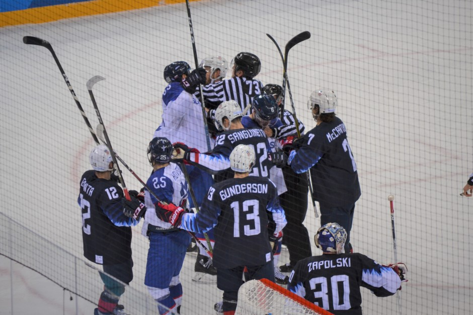 USA vs Slovakia - getting heated