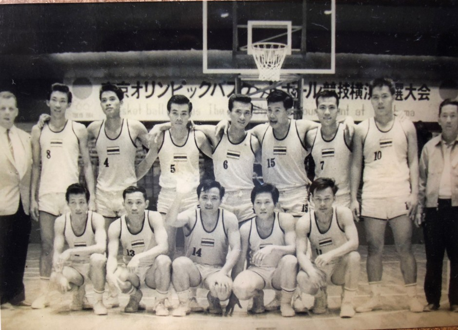 Thai basketball team in Yokohama