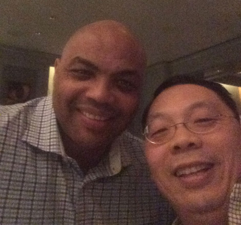 Charles Barkley and Lin Wang selfie